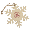 View Image 1 of 2 of Wood Ornament - Snowflake