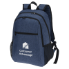 """View Image 1 of 5 of 4imprint Heathered 15"""" Laptop Backpack"""