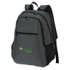 """View Image 1 of 5 of 4imprint Heathered 15"""" Laptop Backpack - Embroidered"""