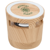 View Image 1 of 4 of Wood Grain Speaker and Wireless Charging Pad