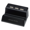 View Image 1 of 6 of Stellar Light-Up Logo Phone Stand with USB Hub