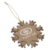 View Image 1 of 4 of Wood Ornament - Snowflake