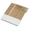 View Image 1 of 2 of Marble and Acacia Wood Cheese Cutting Board