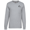 View Image 1 of 3 of Hanes Workwear Pocket Long Sleeve T-Shirt