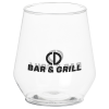 View the Clear Plastic Stemless Wine Glass - 12 oz.