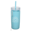 View Image 1 of 4 of Bermuda Silicone Tumbler with Straw and Brush - 32 oz.
