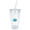 Cracked Ice Light-Up Tumbler with Straw - 16 oz. - 24 hr