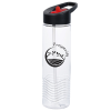 View Image 1 of 3 of Clear Impact Twist Water Bottle with Two-Tone Flip Straw Lid - 24 oz.