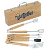 View Image 1 of 3 of Grill Master 5-Piece Bamboo BBQ Set