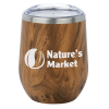 View Image 1 of 2 of Corzo Vacuum Insulated Wine Cup - 12 oz. - Wood