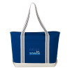 View Image 1 of 3 of Atlantic 20 oz. Cotton Zippered Boat Tote - Embroidered