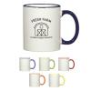 Colorful Trim Mug -10 Oz.