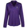 View Image 1 of 3 of Silk Touch Performance LS Sport Polo - Ladies'