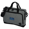 """View Image 1 of 4 of Graphite 15"""" Laptop Briefcase Bag - Embroidered"""
