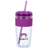 View Image 1 of 3 of Refresh Pebble Tumbler with Straw - 16 oz. - Full Color