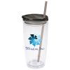 View Image 1 of 3 of Flurry Tumbler with Straw - 20 oz. - Full Color