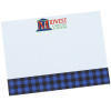 """View Image 1 of 2 of Bic Sticky Note - Designer - 3"""" x 4"""" - Buffalo Plaid - 25 Sheet"""