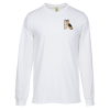 View Image 1 of 2 of Econscious Organic Cotton LS T-Shirt - Men's - White - Embroidered