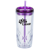 View Image 1 of 4 of Refresh Simplex Tumbler with Straw - 16 oz. - Clear