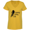 View Image 1 of 3 of District Recycled V-Neck T-Shirt - Ladies'