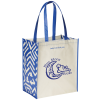View Image 1 of 3 of Expressions Grocery Tote - Royal Print
