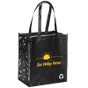 View Image 1 of 3 of Expressions Grocery Tote - Black - 24 hr