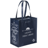 View Image 1 of 3 of Expressions Grocery Tote - Navy - 24 hr