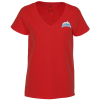 View Image 1 of 3 of District Recycled V-Neck T-Shirt - Ladies' - Embroidered