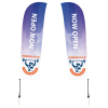 View Image 1 of 3 of Outdoor Blade Sail Sign - 15' - Two-Sided