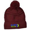 View Image 1 of 3 of Cozy Cable Knit Pom Pom Beanie