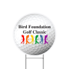 """View Image 1 of 2 of Sport Yard Sign - Golf Ball - 24"""" x 24"""""""