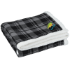 View Image 1 of 3 of Flannel Sherpa Blanket