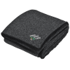 View Image 1 of 5 of Sherpa Backed Heathered Blanket