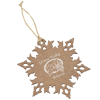 View Image 1 of 4 of Snowflake Wood Photo Ornament