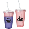 View Image 1 of 2 of Color Changing Tumbler with Straw - 22 oz.