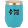 View Image 1 of 3 of Vacuum Wine Cup with Bamboo Lid - 12 oz.