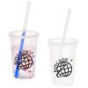 View Image 1 of 2 of Rainbow Confetti Mood Cup with Straw - 16 oz.