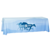View Image 1 of 5 of Laser Edge Open-Back Table Throw - 8' - Full Color