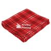 View Image 1 of 3 of Plaid Fleece Blanket - 24 hr