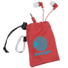 View Image 1 of 4 of Microfiber Pouch with Colorful Ear Buds