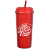 View Image 1 of 6 of Roadmaster Tumbler with Straw - 18 oz.