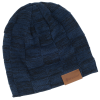View Image 1 of 6 of Fuzzy Lined Heather Knit Beanie