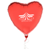 """View Image 1 of 4 of Foil Balloon - 17"""" - Heart"""
