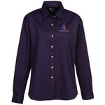 Blue Generation LS Teflon Treated Twill Shirt - Ladies'