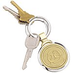 Two-Tone Brass Keychain