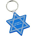 Star of David Soft Key Tag - Translucent