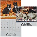 Paws - Puppies & Kittens Calendar - Spiral
