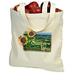 "Cotton Sheeting Natural Economy Tote - 15-1/2"" x 15"" - Full Color"