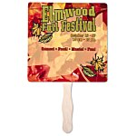 "Hand Fan - 8"" Square - Full Color"