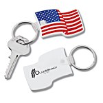 US Flag Stock Soft Keychain